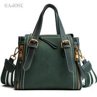 Women Tote Handbags Designer Female Vintage Green Hand Bag Messenger Shoulder Bags Woman Fashion Lady Leather Bag DropShipping