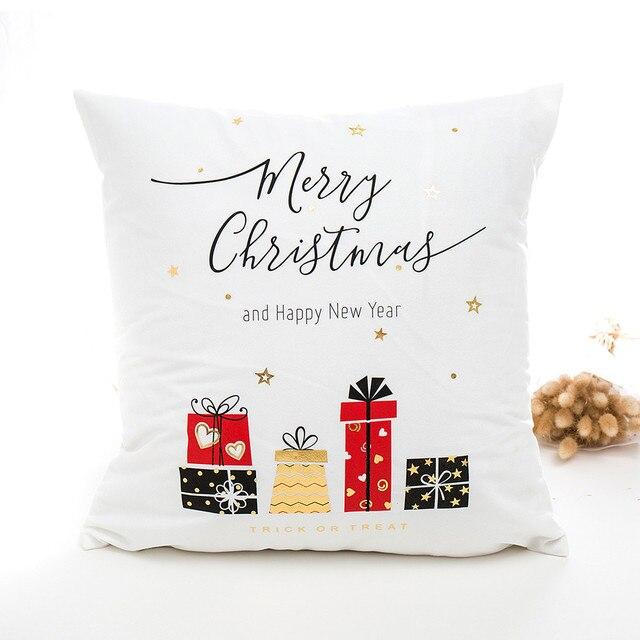 45*45 cm Natale Buon Natale Oro Decorativo Quadrato Coperte e Plaid Coperture pe
