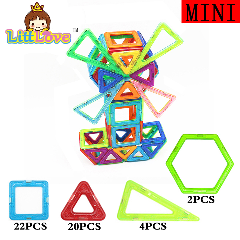 Mini Size 48pcs Magnetic Construction Model Building Blocks Toys DIY 3D Magnetic Designer Educational Brick Toys For Children недорого