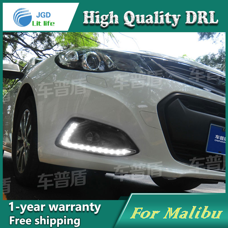 Free shipping !12V 6000k LED DRL Daytime running light case for Chevrolet Malibu 2015 2016 fog lamp frame Fog light Car styling free shipping 12v 6000k led drl daytime running light case for subaru wrx 2015 2016 fog lamp frame fog light car styling