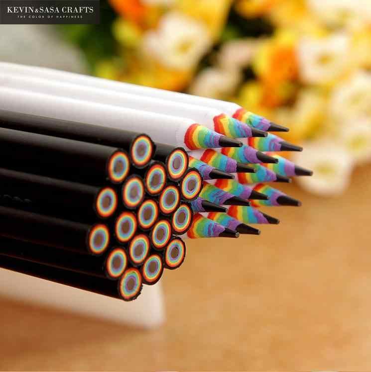 6 шт./компл. карандаш Hb Цветные Карандаши Канцелярские принадлежности для рисования принадлежности милые карандаши для школы липа, офисные школьные крой