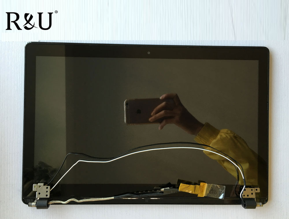 R&U test good lcd screen display with touch screen digitizer assembly 15.6 Upper half set for ASUS X550C X550CC X550