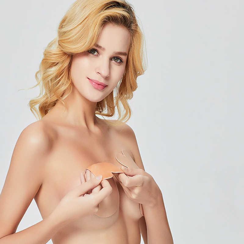 Sexy lencería femenina Delgado vendaje sin tirantes Invisible Push Up sujetadores para mujeres adhesivo inalámbrico Bralette Stick cinta de elevación de pecho