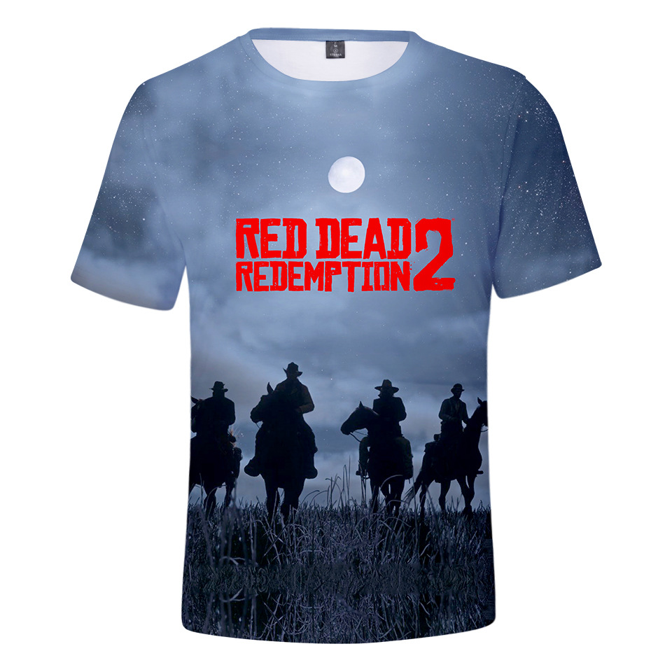 Game Red Dead Redemption 2 3D Print Summer T Shirt Women/Men Short Sleeve Top Tee Casual Fans Hip Hop T-shirt Cosplay Costume