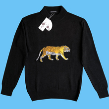 Seestern brand new men's sweater fashion Applique embroidery tiger leisure autumn winter European American youth warm tops