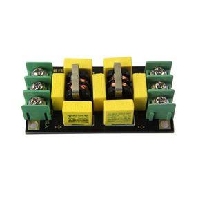 Image 5 - Dtjv 110V 220V AC אספקת חשמל מסנן לוח 4A EMI מסנן רעש מדכאי אודיו מטהר מגבר רעש טומאה מטהר