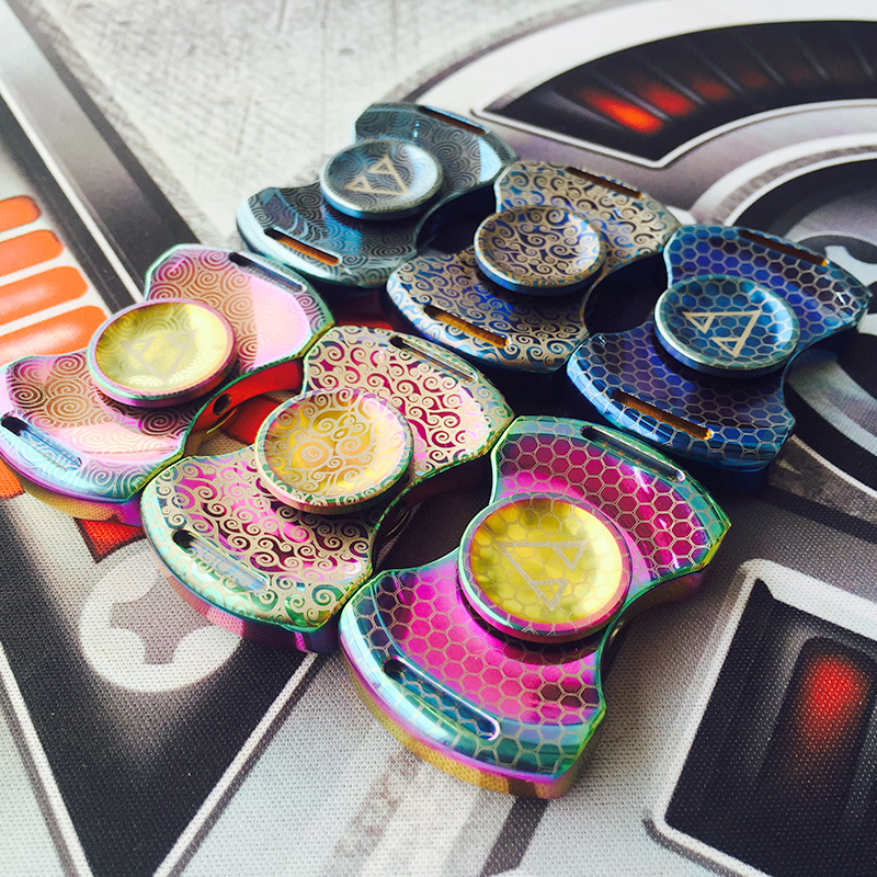 5 Days Arrangement Vacuum Metal Fidget Spinner Gyro EDC Torqbar Brass Stress Toys Adult Gyro Finger Pattern Hand Spinner Toy four leaves colorful wings rainbow butterfly shaped metal hand fidget spinner toy edc toy spinner gift kids adult finger