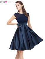 Clearance Sale Elegant Cocktail Dresses Ever Pretty HE06113 Women Satin Short Dresses Sexy Vintage Ball