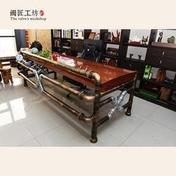 Американский промышленный трубный чайный стол из трубы и клапана Лофт промышленный креативный Винтажный стиль трубы босс Table-J003