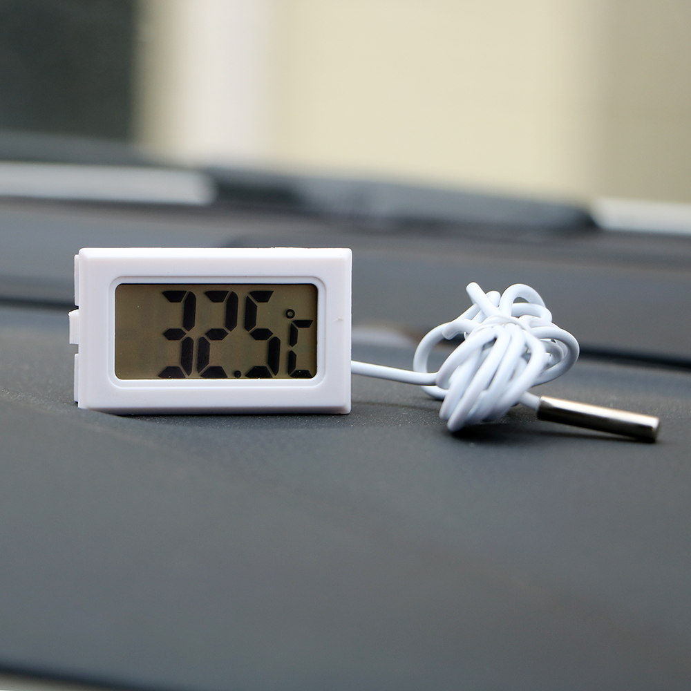 Car Thermometer Temperature Gauge Meter For Fish Tank Refrigerator Digital Clock Car-Styling LCD Display Automobiles Ornaments