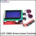 Бесплатная доставка! 3D принтер части платформы 1.4 ЖК 12864 смарт экран контроллера дисплея панели материнской платы синий экран
