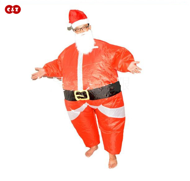 C&Z Creative Christmas grandfather air doll costume Bird Sumo riding horse PVC inflatable mascot cosplay party toy