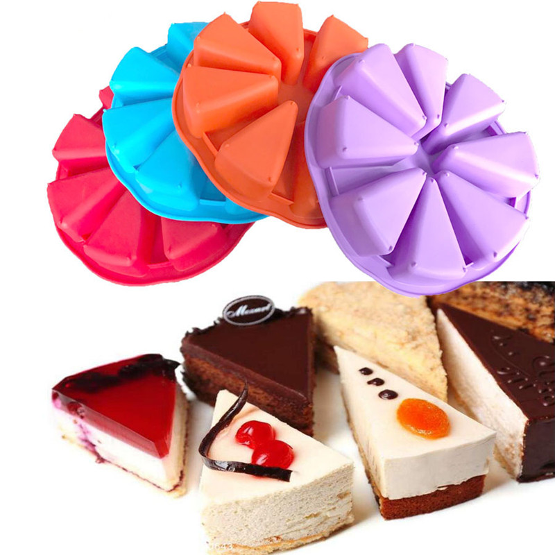 Bakeware Molds Cake Pan Silicone Cake Mold Pudding Triangle Cakes Mould Muffin Baking Tools Fondant  Cake Molds4
