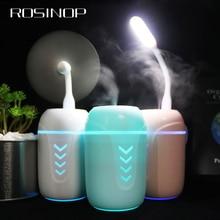 Rosinop Office Gadgets Free Gift USB LED Lamp USB Fan + 200ml Ultrasonic Air Humidifier Night Light Aroma Essential Oil Diffuser