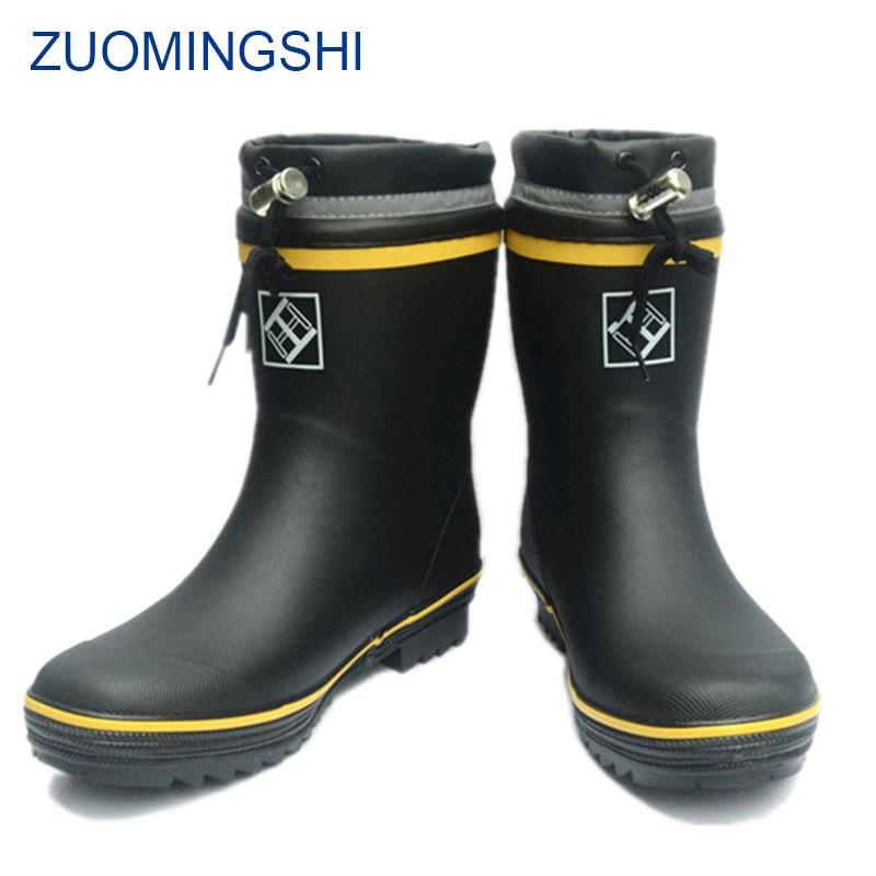 Winter Rubber Rain Boots Men Bot Fishing Boots Men Outdoor Anti-slip Waterproof Shoes  Winter Boots Men  Men Snow Boots