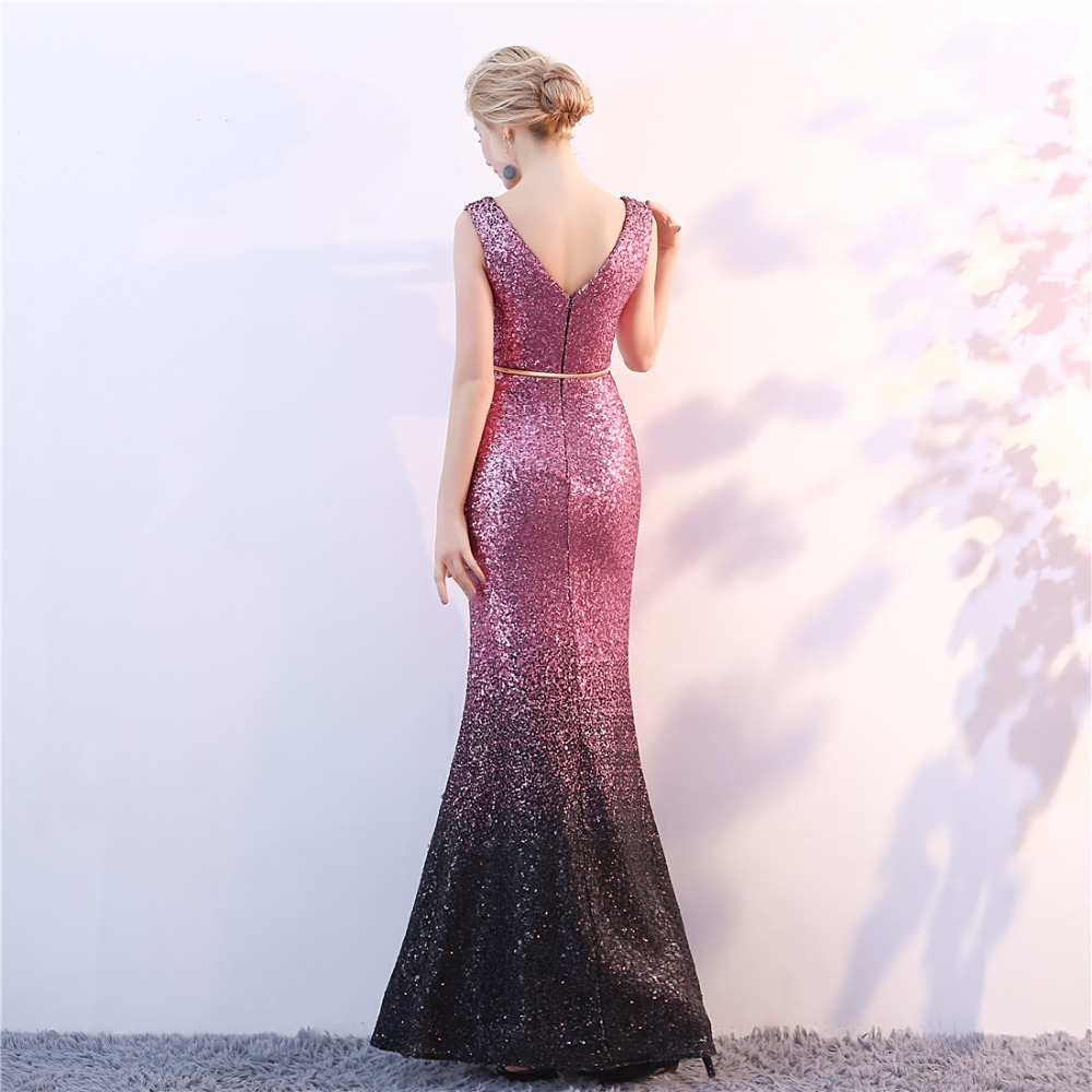 երեկոյան զգեստներ վարդագույն անթև - Հատուկ առիթի զգեստներ - Լուսանկար 5