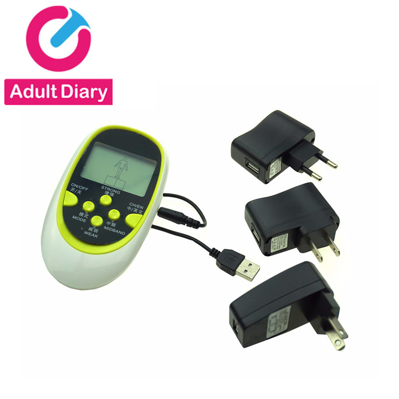 Adult Diary <font><b>Electro</b></font> <font><b>Shock</b></font> <font><b>Sex</b></font> <font><b>Toys</b></font> Electric Power Box & USB <font><b>Cable</b></font> Adapter US AU EU Plug to Choose Dual Output <font><b>Electro</b></font> <font><b>Sex</b></font> Host image
