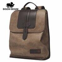 BISON DENIM 2017 Fashion Backpack Men Laptop Ipad School Backpack Male Travel Backpack Waterproof Backpack N2581