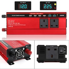 2000W Car Inverter DC 12V 24V to AC 110V 220V Modified Sine Wave Car Charger Power Inverter Supply Converter Car Inverter кеды с ананасами синие in extenso