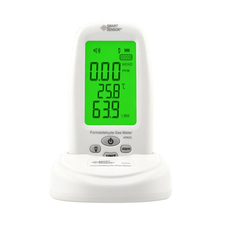 Smart Sensor AR820 Air Quality Monitor Indoor Digital Formaldehyde Detector Tester Thermometer Hygrometer Analyzer Gas Detector