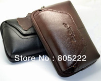 Free Shipping Universal Horizontal Genuine Leather Belt Pouch Bag Case Holster For Nokia N9 E72 Lumia