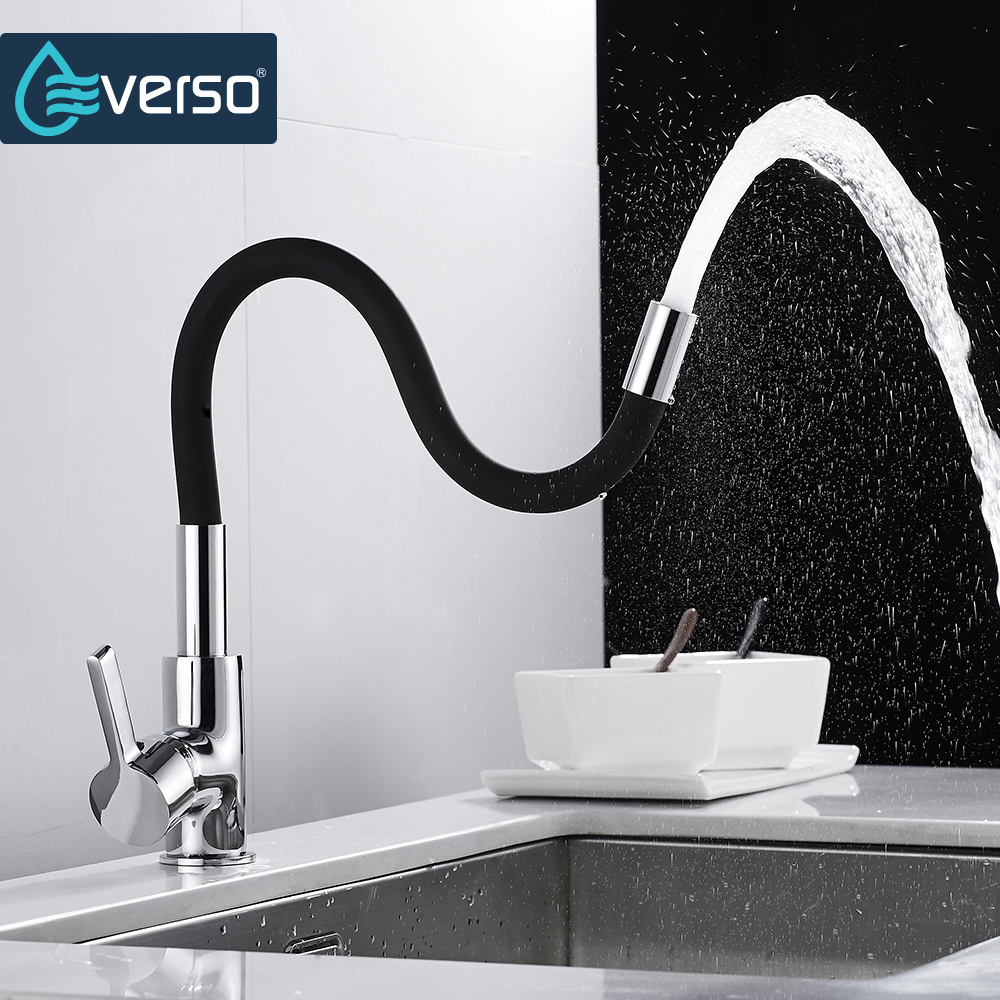 Image 2 - Kitchen Faucet Silica Gel Nose 360 Any Direction Rotating kitchen goods Cold and Hot Water Mixer Single Handle rotation Tap-in Kitchen Faucets from Home Improvement