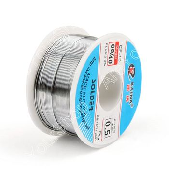 Areyourshop Sale High Quality 0.5mm 100g 60/40 Rosin Core Tin Lead Solder Wire Soldering Welding Flux 2.0% Iron Wire Reel