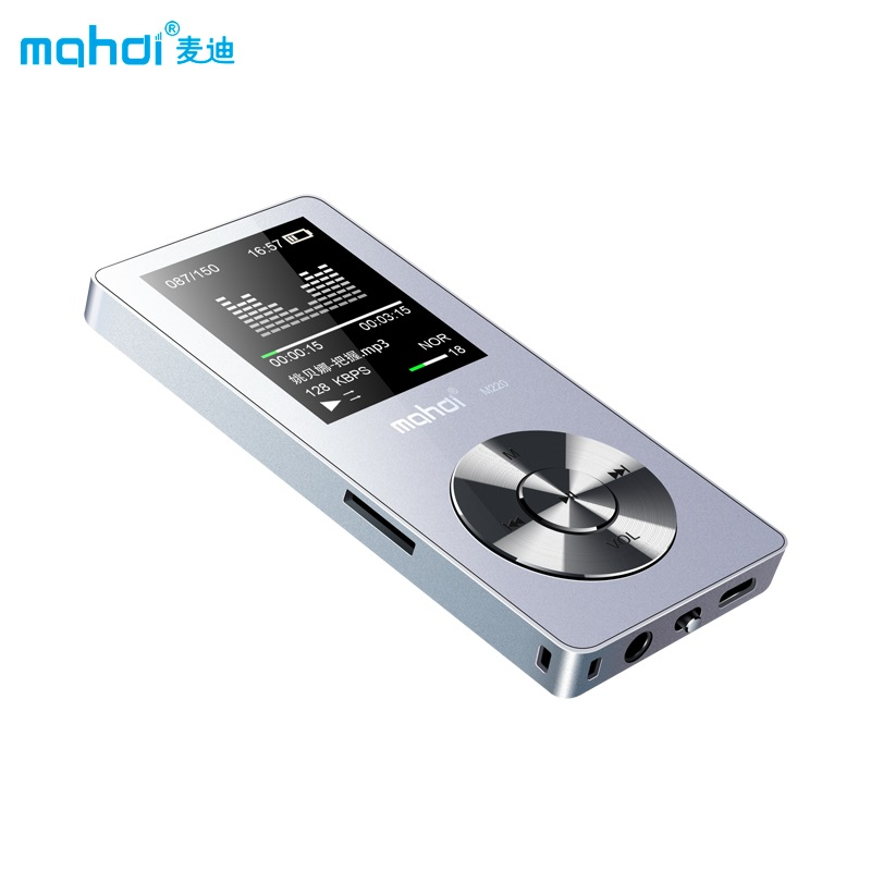 Full Metal MP3 80 horas deporte MP3 Player con altavoz MP3 reproductor de música con pantalla grabadora de voz Video 8G brazo Correa auricular Reproductor de DVD Multimedia estéreo para coche Android 10,1 para HYUNDAI IX45 SantaFe 2013-2017, navegación, Radio GPS