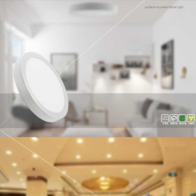 LED ultra-thin engineering ceiling lamp 85-265V panel lamp die-casting aluminum anti-fog 6W12W18W ceiling downlight