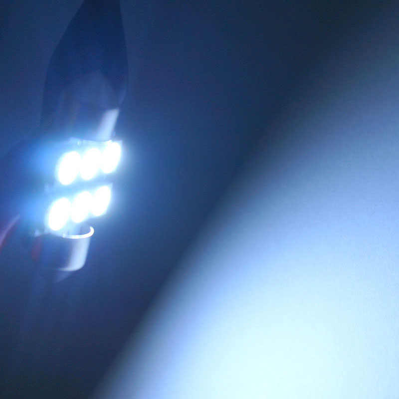 Festoon 31mm 36mm 39mm 42mm LED ampul C5W C10W süper parlak 5050 SMD oto İç dome lambası okuma ampuller araba Styling işık