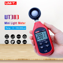 UNI-T UT383 Mini Light Meter 200,000 LUX Digital Luxmeter Luminance Lux Fc Test Max Min Illuminometers Photometer la 952 professional digital light meter luxmeter lux fc meters luminometer photometer 400000 lux