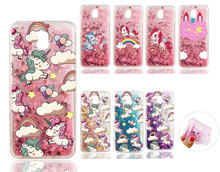 Liquid Water Case for Samsung Galaxy 2015 2016 2017 A3 A5 J1 J3 J5 J7 S5 S6 S7edge S7 Edge S8 Plus Unicorn Horse Soft TPU Cover(China)