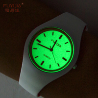 New FUYIJIA Watches Couple Quartz Watch Woman Silicone Bracelet Watch Top Brand Luxury Waterproof Watch Luminous