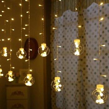 138 светодио дный LED Droop занавес светодиодный сказка гирлянды батарея питание ЕС Plug Романтический Новый год сад Xmas Свадебная вечеринка украше... >> Amagle Official Store