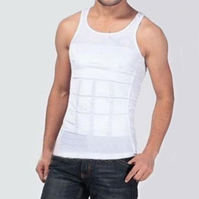224a0c3740c0d Men Body Slimming Tummy Shaper Belly Underwear Shapewear Waist Girdle Shirt  Male Summer Beach Bathing Shirts Shirt