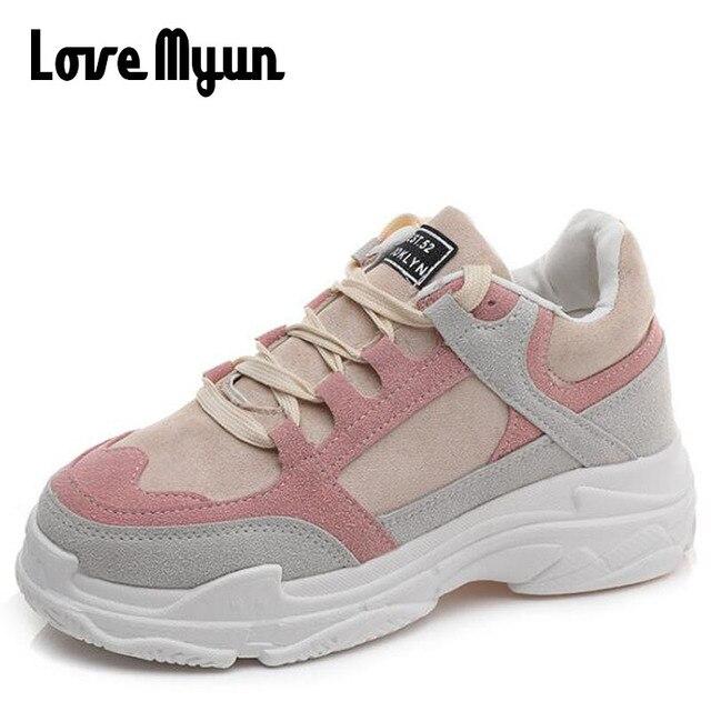 67f9370aa05 Fashion Sneakers Women 2018 Tenis Feminino Casual Shoes Women Outdoor  Walking Shoes Women Lace Up Flats Chaussure Femme SB-75