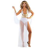 new high quality white Sexy Cleopatral costumes Greek Goddess cosplay Zentai Egyptian princess Bodysuit queen costume Halloween