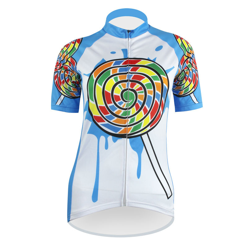 Cycling shirt bike equipment SPPINT DESIGN Pattern Women new hot top Sleeve Cycling Clothes Full Zipper Bike Apparel Size XS To