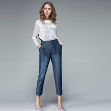 6d1eba5d7f3a1 BAQCN Woman Spring Plus Size Casual Solid High Ankle-length 100% Tencel  Pencil Pants