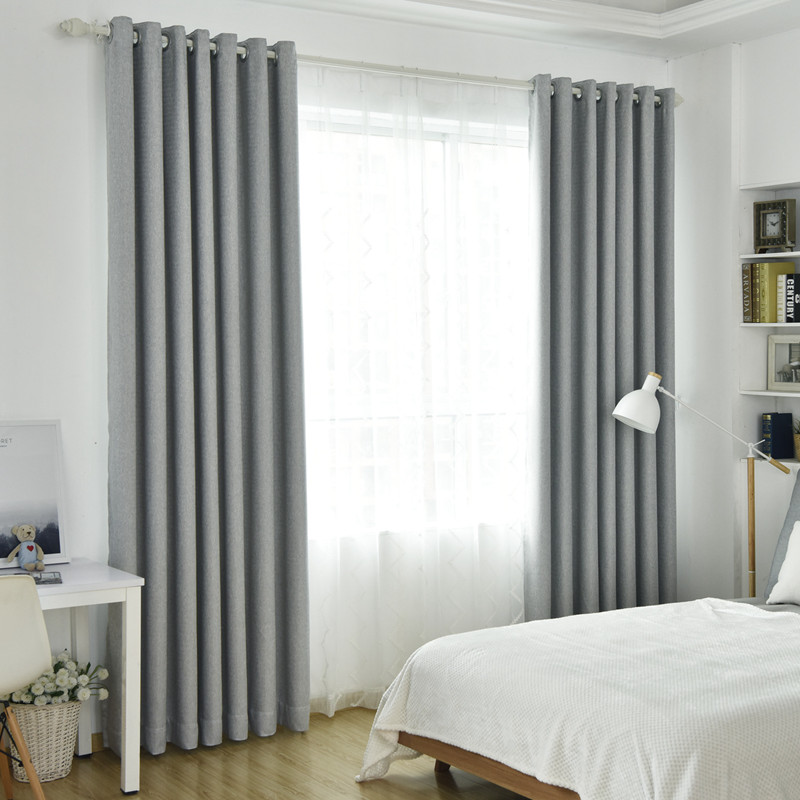 Modern Solid Thick Curtain Light Grey Cloth For Living Room Bedroom Japanese Blackout Curtains Kitchen Window Curtain Hc055 30 Curtains Aliexpress