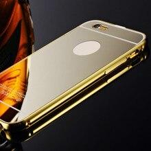 Hc01 тонкий золотой металл алюминий case cover для iphone 5c coque роскошные акриловые зеркало задняя крышка case для iphone 5c capinhas 2016