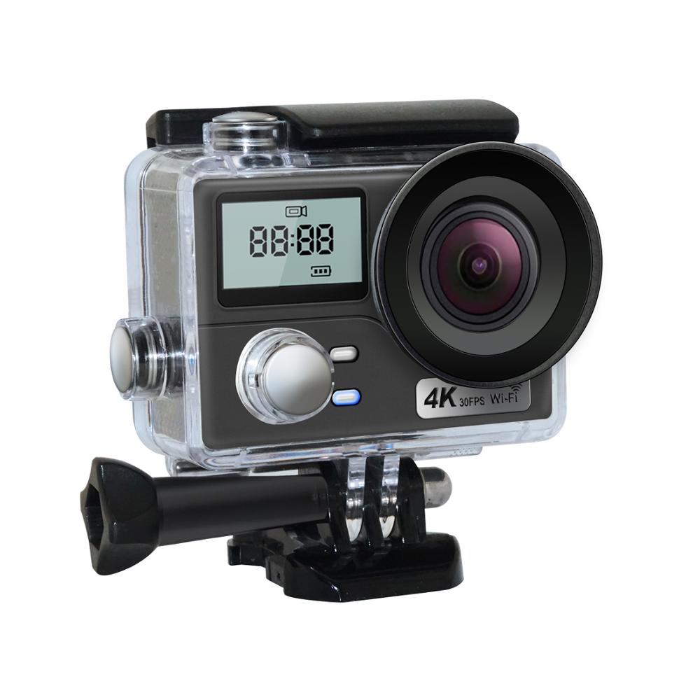 Caméra d'action Ultra HD 4 K double écran 16MP Wifi caméra de sport avec télécommande enregistreur vidéo aller étanche caméra casque pro