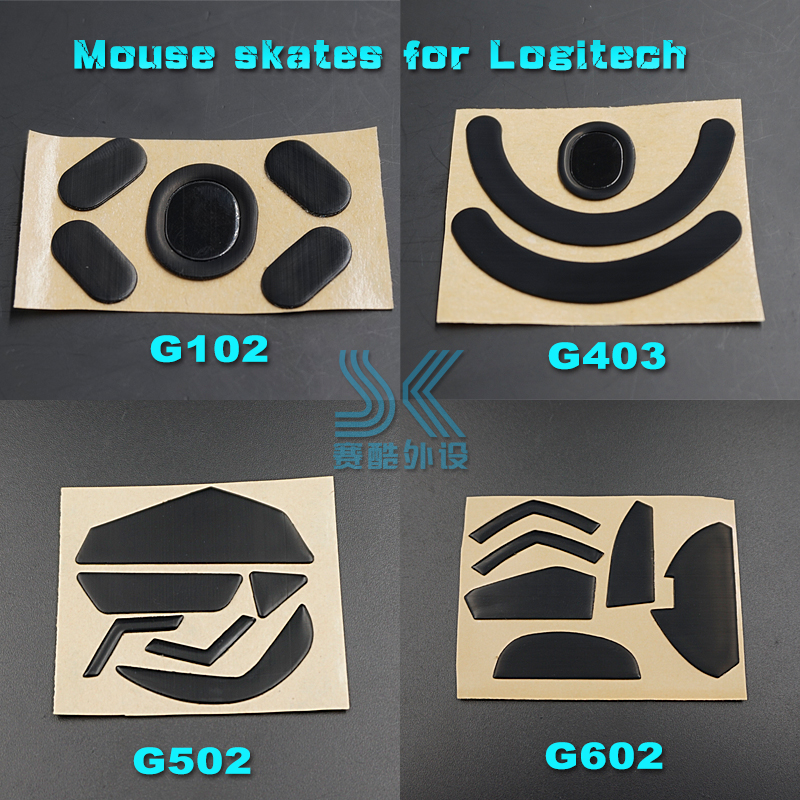 Teflon 3M Mouse Skates For Logitech G502 G403 G602 G603 G703 G700 G700S G600 G500 G500S 0.6MM Gaming Mouse Feet Replace Foot
