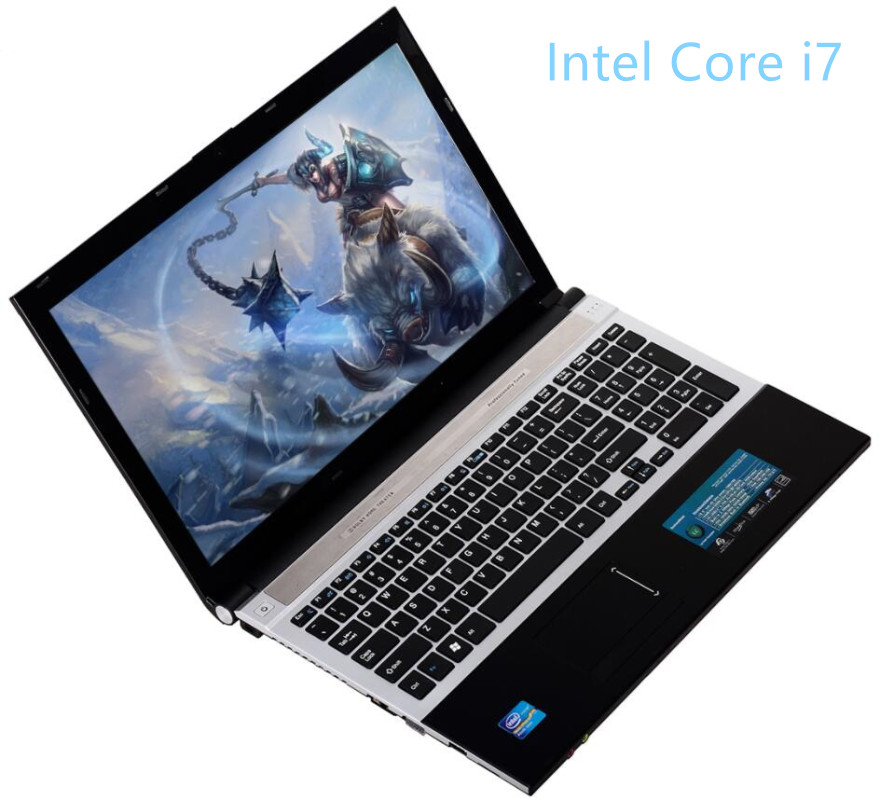 Intel Core I7 CPU 8GB RAM 120GB SSD 750GB HDD 15.6inch 1920x1080P FHD Game Laptop Notebook Computer With DVD-RW Ukraine Russia