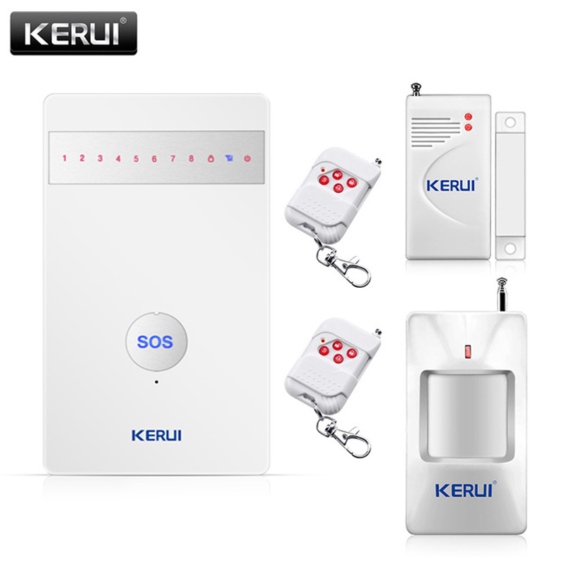 2017 KERUI Promotion Intelligent SOS Button Wireless SMS Burglar Security GSM Alarm System for home APP