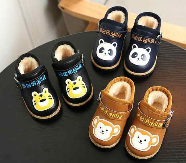 2019 новые зимние детские сапоги из искусственной кожи непромокаемые детские зимние сапоги брендовые для мальчиков и девочек резиновые сапоги модные SneakersToddler shoe