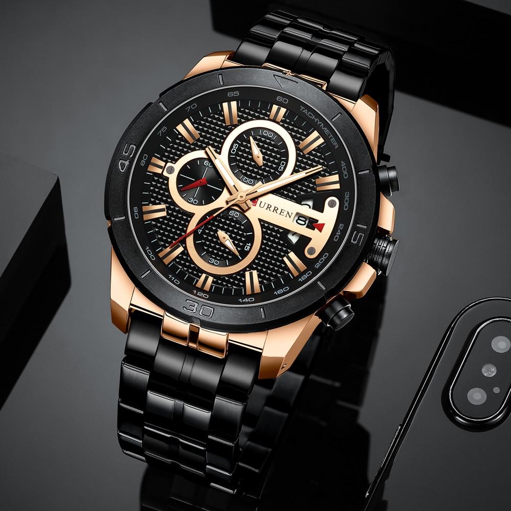 HTB132mvcEWF3KVjSZPhq6xclXXa3 CURREN Men Watch Luxury Watch Chronograph