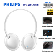 Philips shb4405 sem fio fone de ouvido/fones bluetooth controle volume estéreo baixo para galaxy note 8 s8 plus xiao mi 8 hua wei