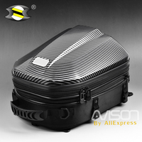 Motorcycle Helmet Tail Bags Travel Package Back Seat Bags Universal Motorbike Hard Shell Seat Bag Expandable Capacity