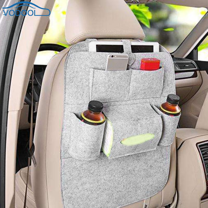 Multi-function Car Seat Back Storage Bag Organizer Car Hanging Bags Seat Backpack Bag Can Universal Stowing Tidying Protector